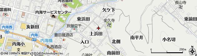 愛知県南知多町(知多郡)内海(上浜田)周辺の地図