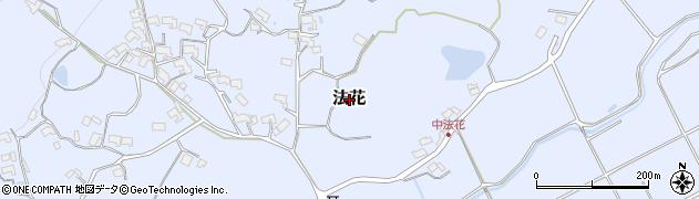 三重県伊賀市法花周辺の地図