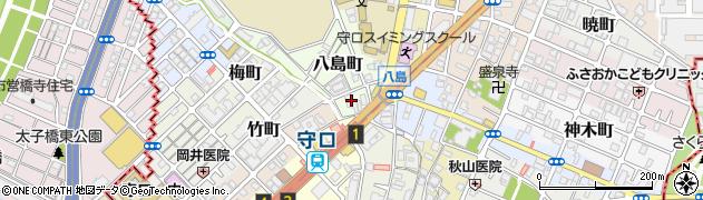大阪府守口市八島町周辺の地図