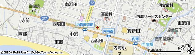 愛知県南知多町(知多郡)内海(西浜田)周辺の地図