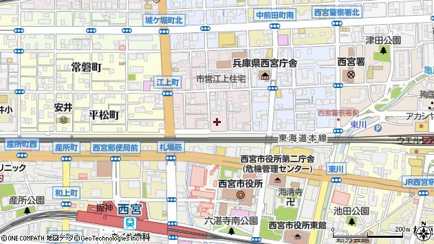 〒662-0855 兵庫県西宮市江上町の地図