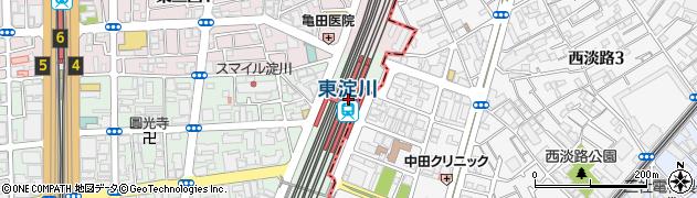 大阪府大阪市淀川区周辺の地図