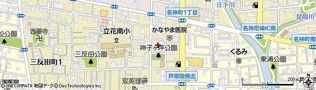兵庫県尼崎市三反田町3丁目周辺の地図