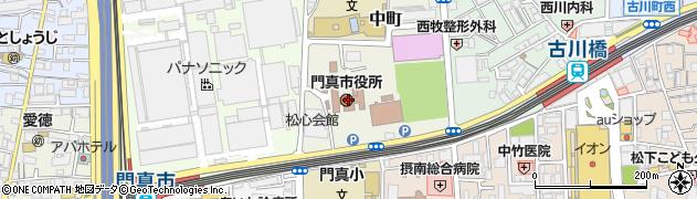 大阪府門真市周辺の地図