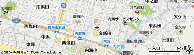 愛知県南知多町(知多郡)内海(亥新田)周辺の地図