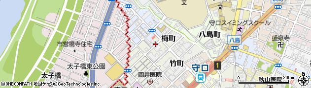 大阪府守口市梅町周辺の地図
