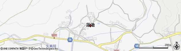 三重県伊賀市蓮池周辺の地図
