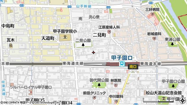 〒663-8111 兵庫県西宮市二見町の地図