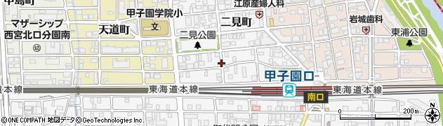 兵庫県西宮市二見町周辺の地図
