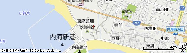 愛知県南知多町(知多郡)内海(東座頭畑)周辺の地図