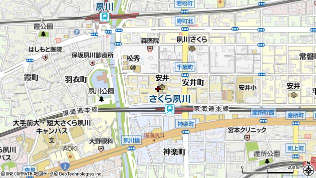 〒662-0045 兵庫県西宮市安井町の地図