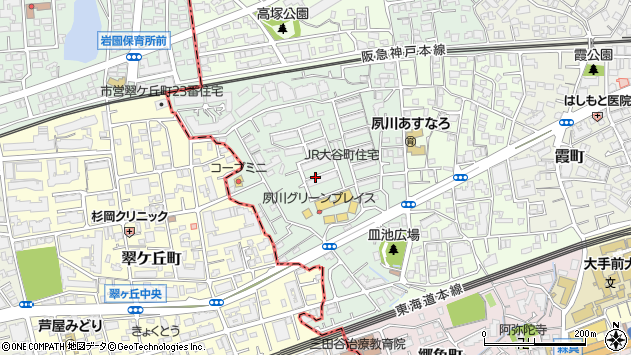 〒662-0054 兵庫県西宮市大谷町の地図