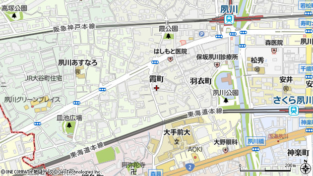 〒662-0052 兵庫県西宮市霞町の地図