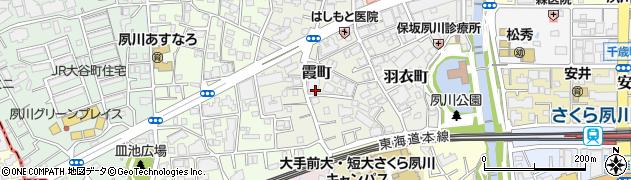 兵庫県西宮市霞町周辺の地図