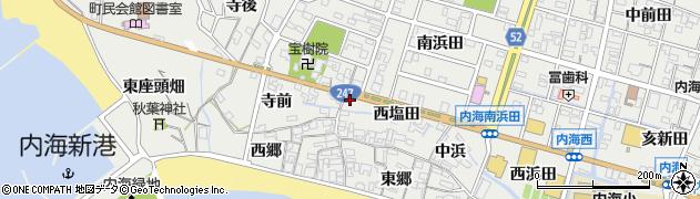 愛知県南知多町(知多郡)内海(西塩田)周辺の地図