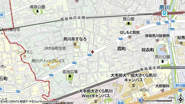 〒662-0053 兵庫県西宮市松園町の地図