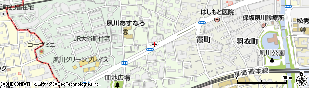 兵庫県西宮市松園町周辺の地図