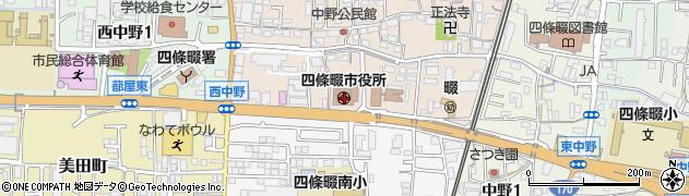 大阪府四條畷市周辺の地図