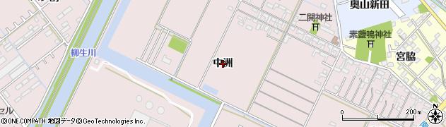 愛知県豊橋市神野新田町(中洲)周辺の地図