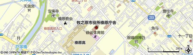 静岡県牧之原市周辺の地図