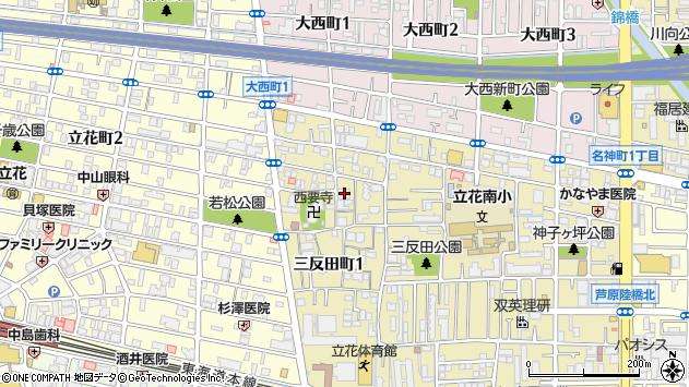 〒661-0024 兵庫県尼崎市三反田町の地図