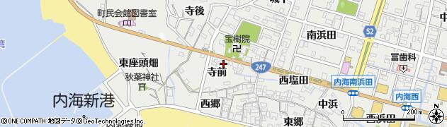 愛知県南知多町(知多郡)内海(寺前)周辺の地図