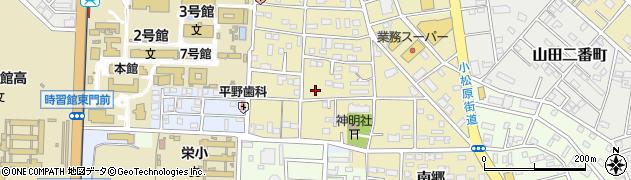 愛知県豊橋市小松町周辺の地図