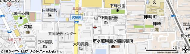 兵庫県尼崎市次屋3丁目周辺の地図
