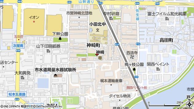 〒661-0964 兵庫県尼崎市神崎町の地図