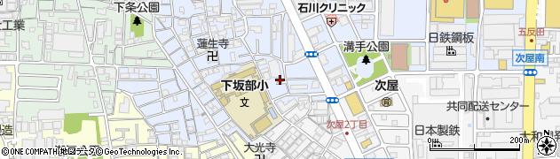 兵庫県尼崎市下坂部1丁目周辺の地図