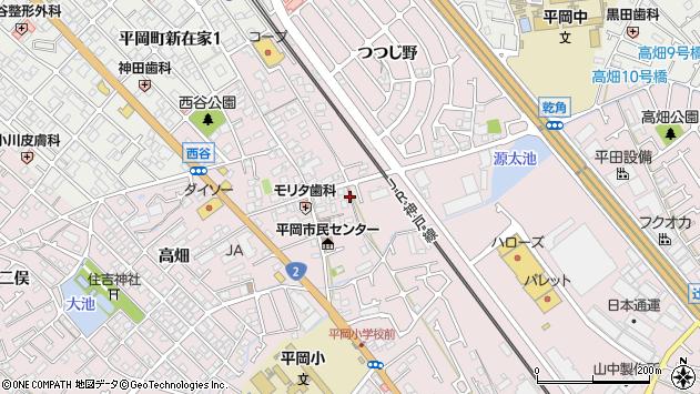 〒675-0102 兵庫県加古川市平岡町西谷の地図