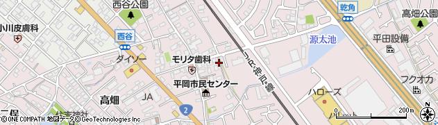 兵庫県加古川市平岡町(西谷)周辺の地図