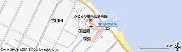 愛知県南知多町(知多郡)豊丘(孫廻間)周辺の地図