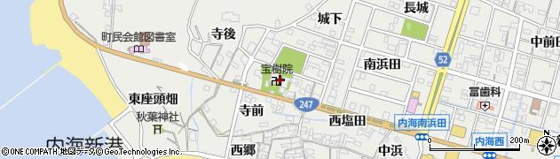 愛知県南知多町(知多郡)内海(寺後)周辺の地図