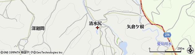愛知県南知多町(知多郡)内海(清水尻)周辺の地図
