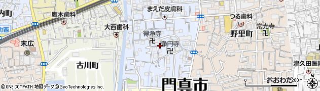 大阪府門真市常盤町周辺の地図