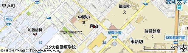 愛知県豊橋市橋良町(向山)周辺の地図