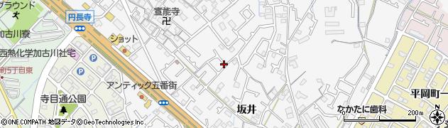 兵庫県加古川市野口町(坂井)周辺の地図