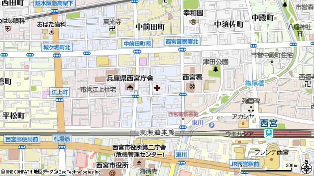 〒662-0854 兵庫県西宮市櫨塚町の地図