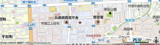 兵庫県西宮市櫨塚町周辺の地図