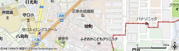 大阪府守口市暁町周辺の地図