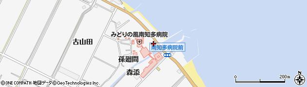 愛知県南知多町(知多郡)豊丘(葭野)周辺の地図