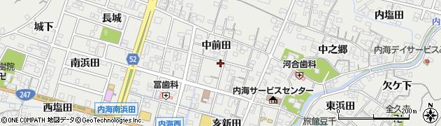 愛知県南知多町(知多郡)内海(中前田)周辺の地図