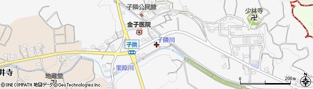 静岡県掛川市子隣周辺の地図