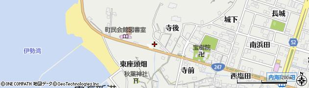 愛知県南知多町(知多郡)内海(柴井)周辺の地図