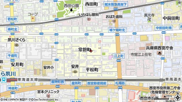 〒662-0043 兵庫県西宮市常磐町の地図