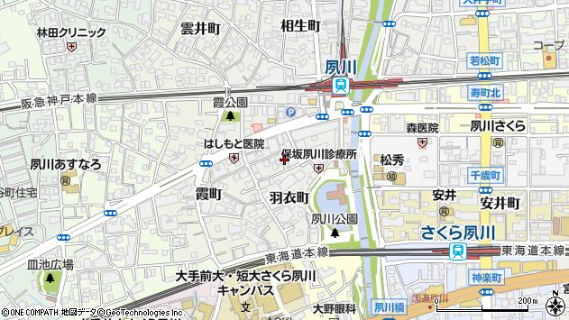 〒662-0051 兵庫県西宮市羽衣町の地図