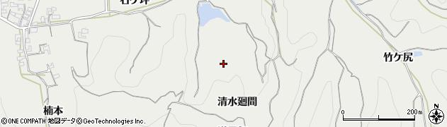 愛知県南知多町(知多郡)内海(清水廻間)周辺の地図
