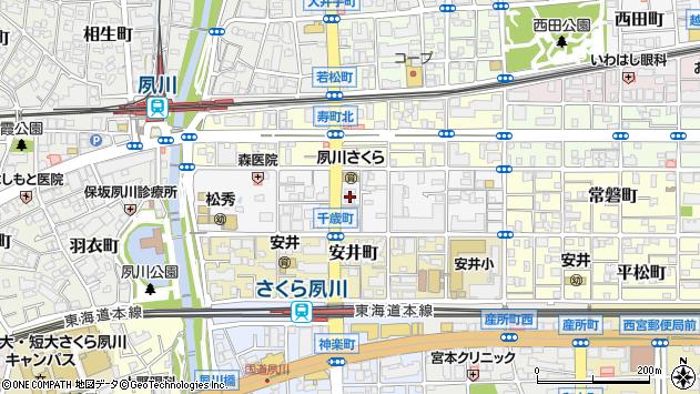 〒662-0046 兵庫県西宮市千歳町の地図