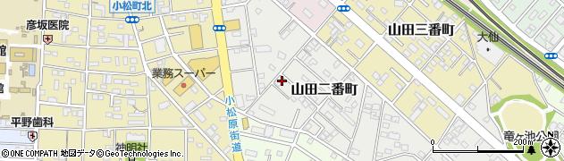 愛知県豊橋市山田二番町周辺の地図